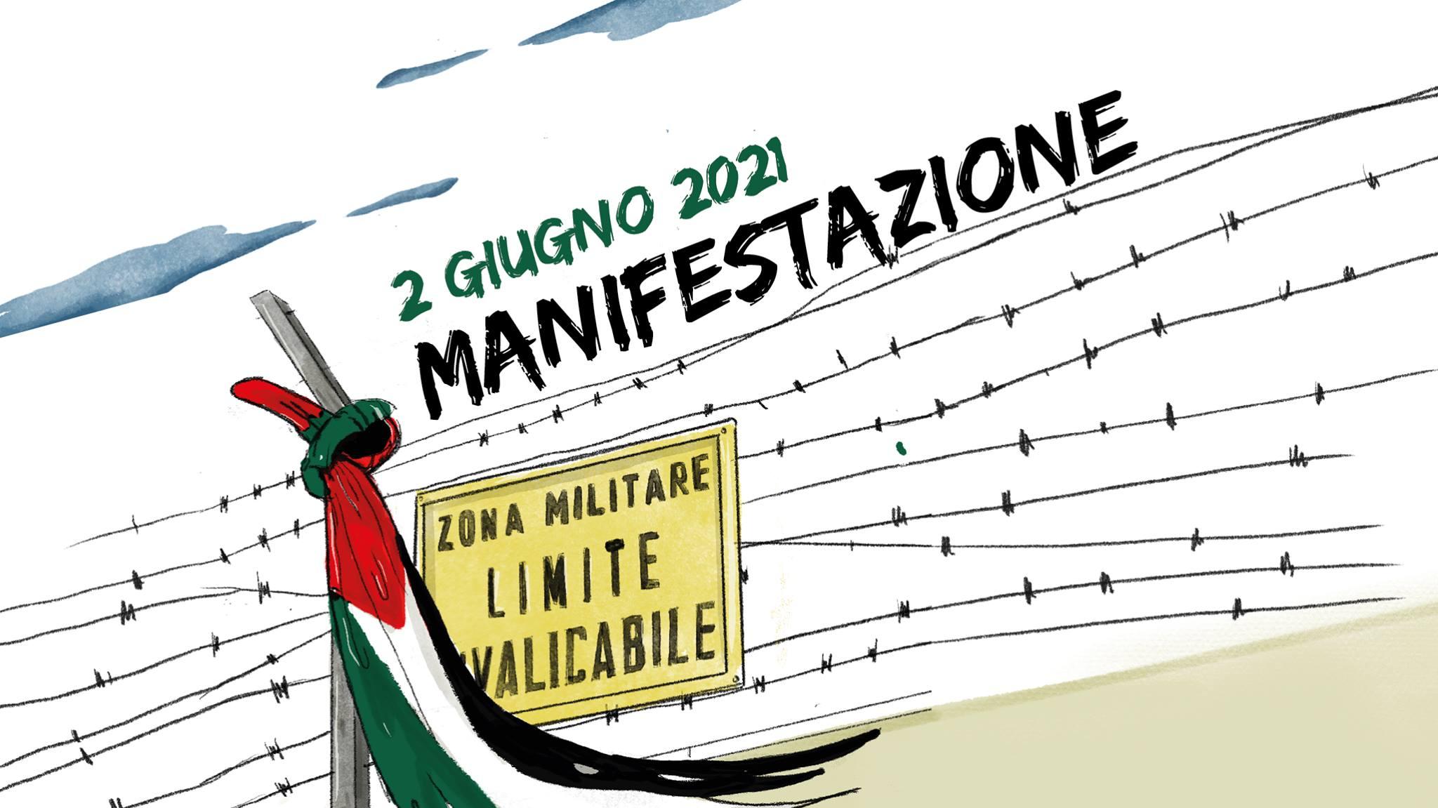 2 Giugno 2021 – Manifestazione contro l'occupazione militare e in solidarietà al popolo palestinese